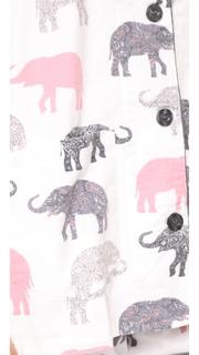 PJ Salvage Elephant Walk Flannel PJ Set