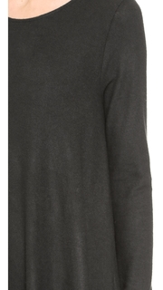 Three Dots Brushed Knit Asymmetrical Pullover