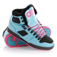 Кеды кроссовки утепленные женские Osiris Nyc 83 Shr Blue/Black/Pink