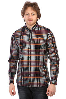 Рубашка в клетку Fred Perry Twill Check Shirt Burgundy