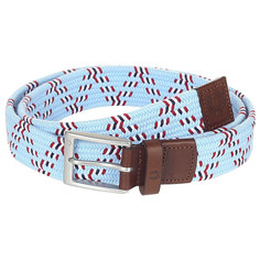 Ремень Fred Perry Chevron Woven Cord Belt Light Blue