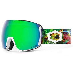 Маска для сноуборда OUT OF Earth + Доп Линза Chameleon (green Mci)