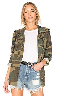 Пальто с камуфляжным принтом french field - ALPHA INDUSTRIES