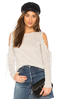 Open laced sweater - White + Warren