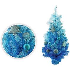 Елка декоративная с украшениями, 75 см, голубой цвет Tukzar