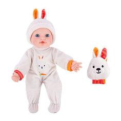 """Кукла-пупс с игрушкой зайкой Mary Poppins """"Моя первая кукла"""", 30 см (звук)"""