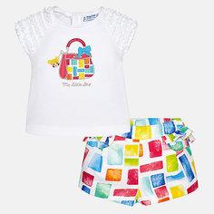 Комплект: Футболка,шорты Mayoral для девочки
