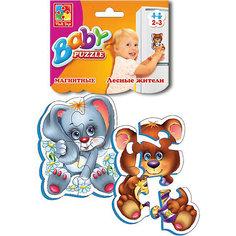 """Мягкие магнитные Baby puzzle """"Лесные жители"""" Vladi Toys"""