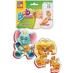 """Мягкие магнитные Baby puzzle """"Зоопарк"""" Vladi Toys"""