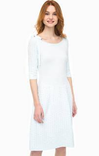 Трикотажное платье с расклешенной юбкой Stefanel