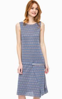 Платье в горошек с металлизированной нитью Stefanel