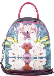 Маленькая сумка-рюкзак с цветочным принтом Curanni