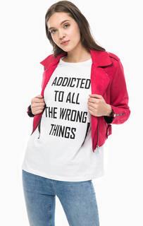 Куртка косуха цвета фуксии Only