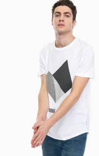 Белая футболка с короткими рукавами Jack & Jones