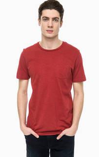 Однотонная хлопковая футболка с круглым вырезом Jack & Jones