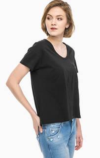 Хлопковая футболка с карманом и вышивкой Replay