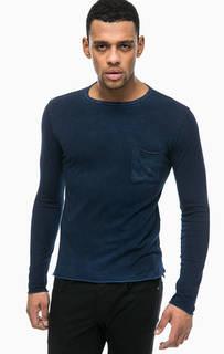 Синяя хлопковая футболка с карманом Replay