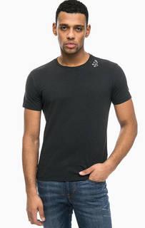 Черная хлопковая футболка Replay