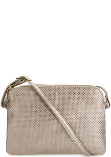 Маленькая кожаная сумка с тремя отделами на молниях Bruno Rossi
