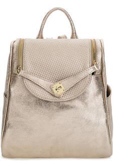 Золотистый рюкзак из мягкой кожи Bruno Rossi