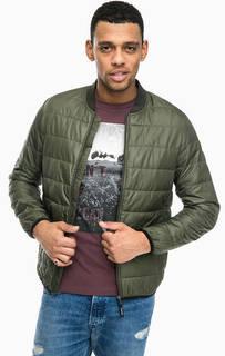 Куртка цвета хаки с эластичным воротом Tom Tailor Denim