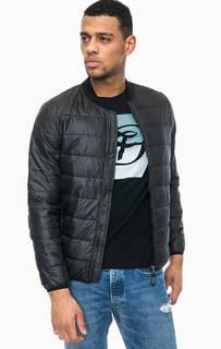Черная куртка с эластичным воротом Tom Tailor Denim