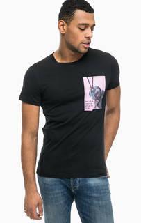 Черная футболка из хлопка Tom Tailor Denim