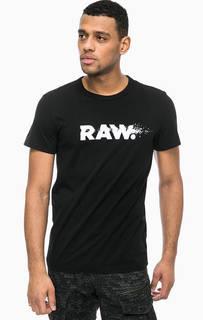 Хлопковая футболка с контрастным принтом G Star RAW