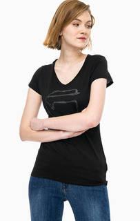 Хлопковая футболка с глубоким вырезом G Star RAW