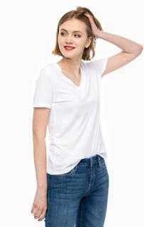 Хлопковая футболка с треугольным вырезом Mavi