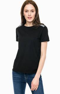 Черная трикотажная футболка Mavi