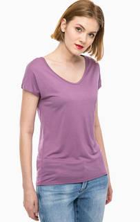 Однотонная футболка с треугольным вырезом Mavi