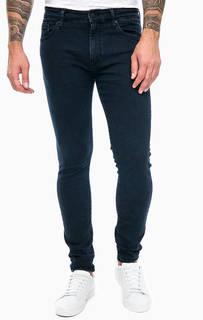 Темно-синие джинсы скинни с застежкой на молнию и болт Mavi