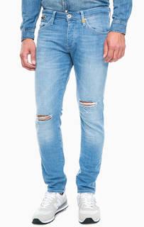 Рваные синие джинсы скинни Mavi