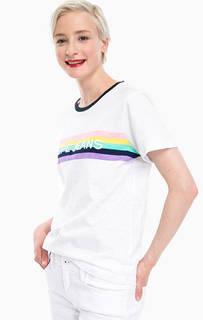 Белая хлопковая футболка с круглым вырезом Pepe Jeans