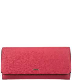 Красный кошелек из зерненой кожи Furla