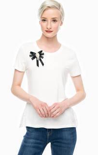 Белая футболка с кружевной спинкой Gaudi