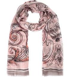 Розовый трикотажный палантин Fraas