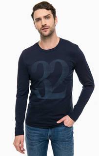 Синяя хлопковая футболка Mustang