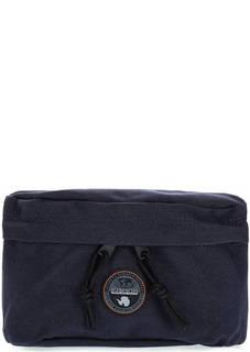 Текстильная поясная сумка синего цвета Napapijri