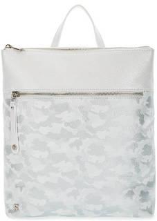 Вместительный кожаный рюкзак с камуфляжным принтом Fiato