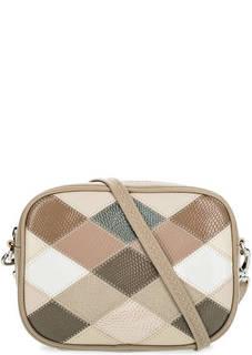 Маленькая кожаная сумка в стиле пэчворк Fiato