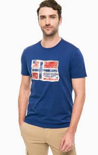 Синяя футболка с нашивкой Napapijri