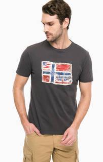 Серая футболка с нашивкой Napapijri