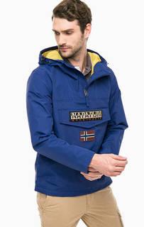 Синяя куртка с карманом и капюшоном Napapijri