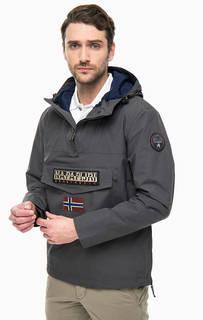 Серая куртка с карманом и капюшоном Napapijri