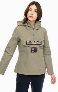 Куртка цвета хаки с карманом и капюшоном Napapijri