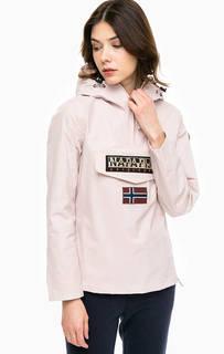Розовая куртка с карманом и капюшоном Napapijri