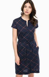 Платье-рубашка в клетку с поясом Barbour