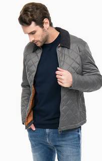 Куртка цвета хаки с вельветовым воротничком Barbour